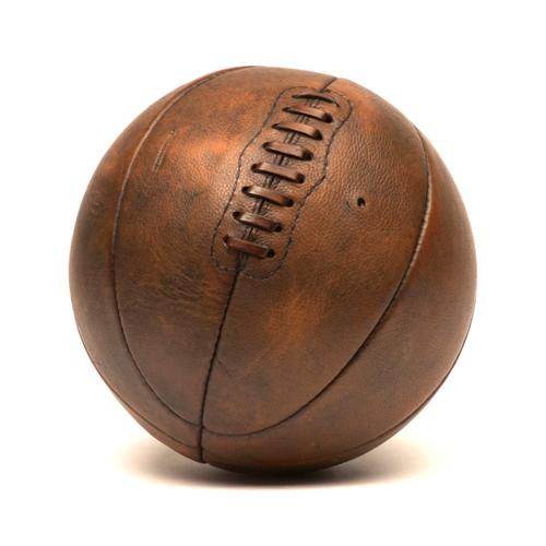 leather basketball vintage