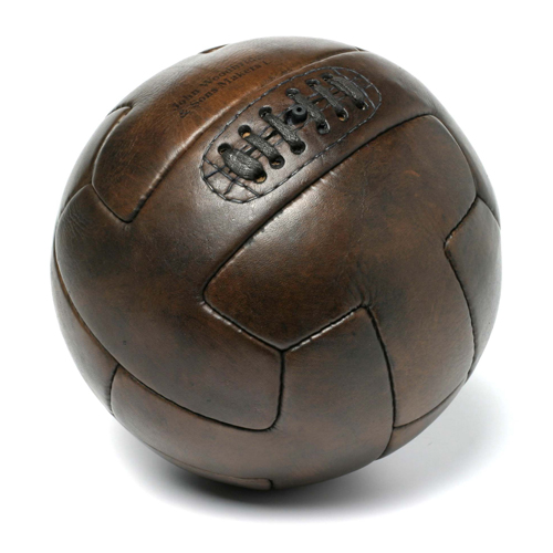 Ballon de football T-shape 1930 vintage en cuir