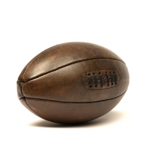 Ballon de rugby vintage cuir 1920