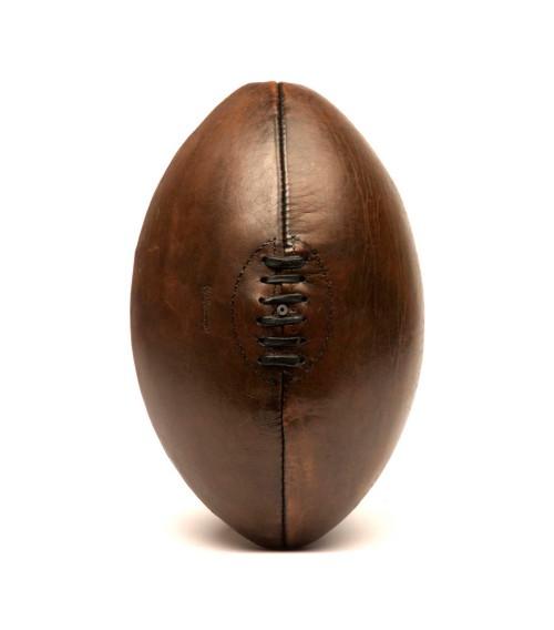 Ballon de rugby vintage cuir 1940