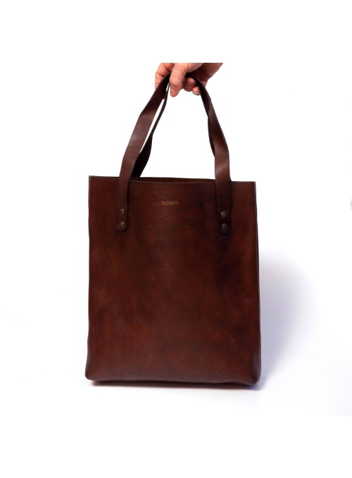 VINTAGE LEATHER TOTE BAG SMALL