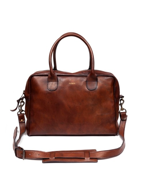 VINTAGE LEATHER COMPUTER BAG 17 INCHES