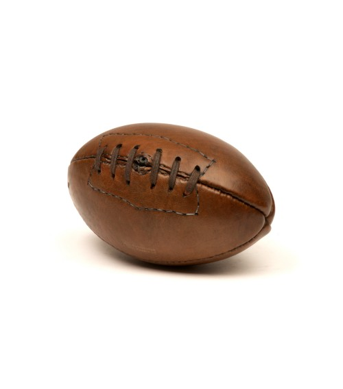 Mini ballon de rugby vintage en cuir