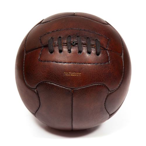 brazil 1950 superball duplo-t vintage leather football