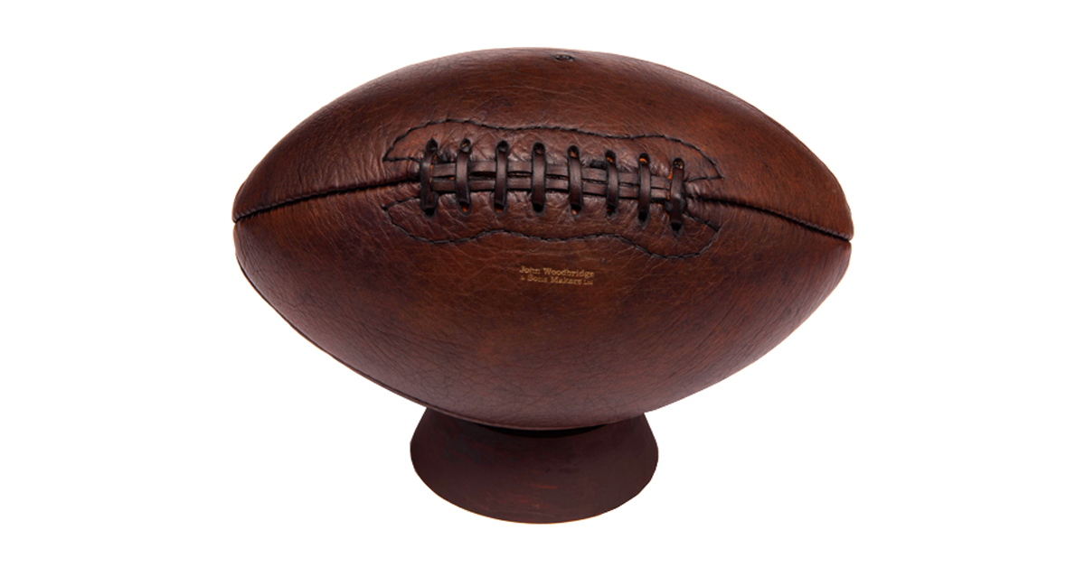 vintage leather american football
