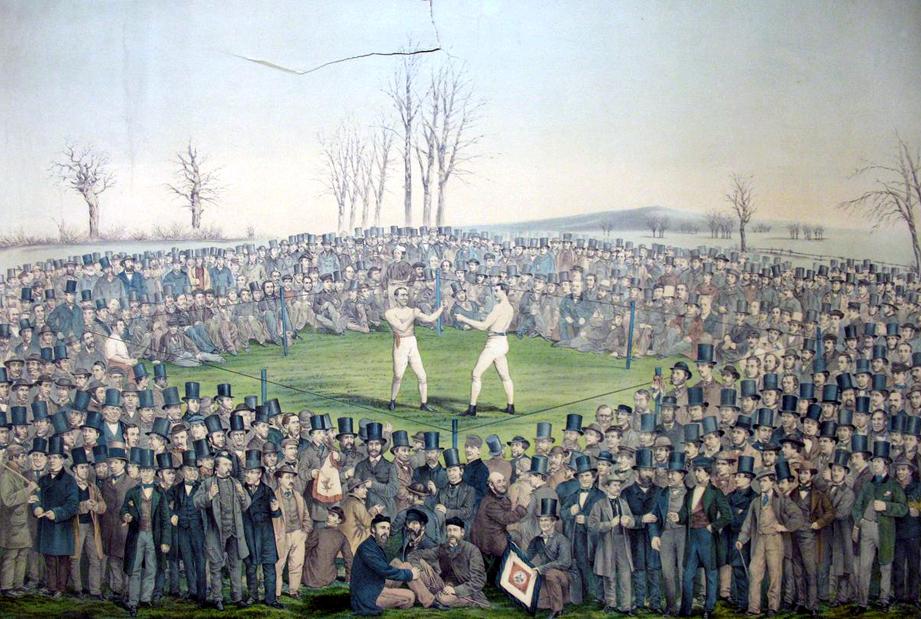 combat john heenan tom sayers 1860 farnborough