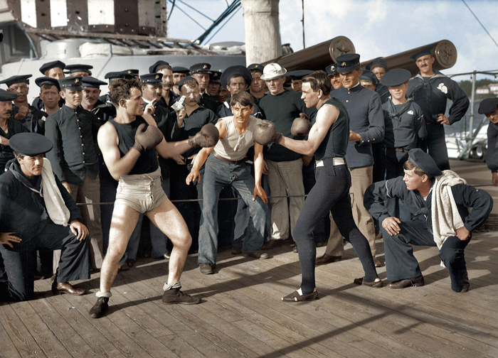 boxing on uss navy july 3 1899