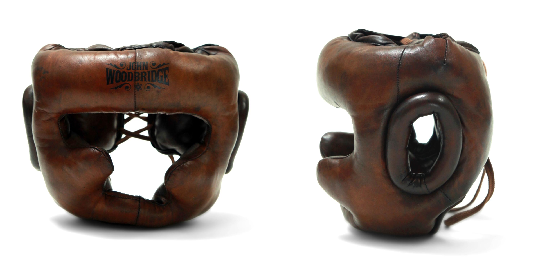 boxing sparring leather helmet john woodbridge
