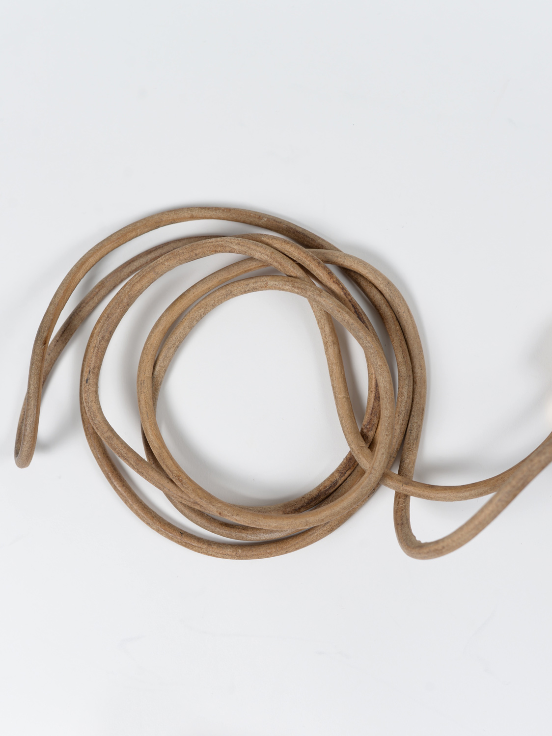 old school leather skipping rope