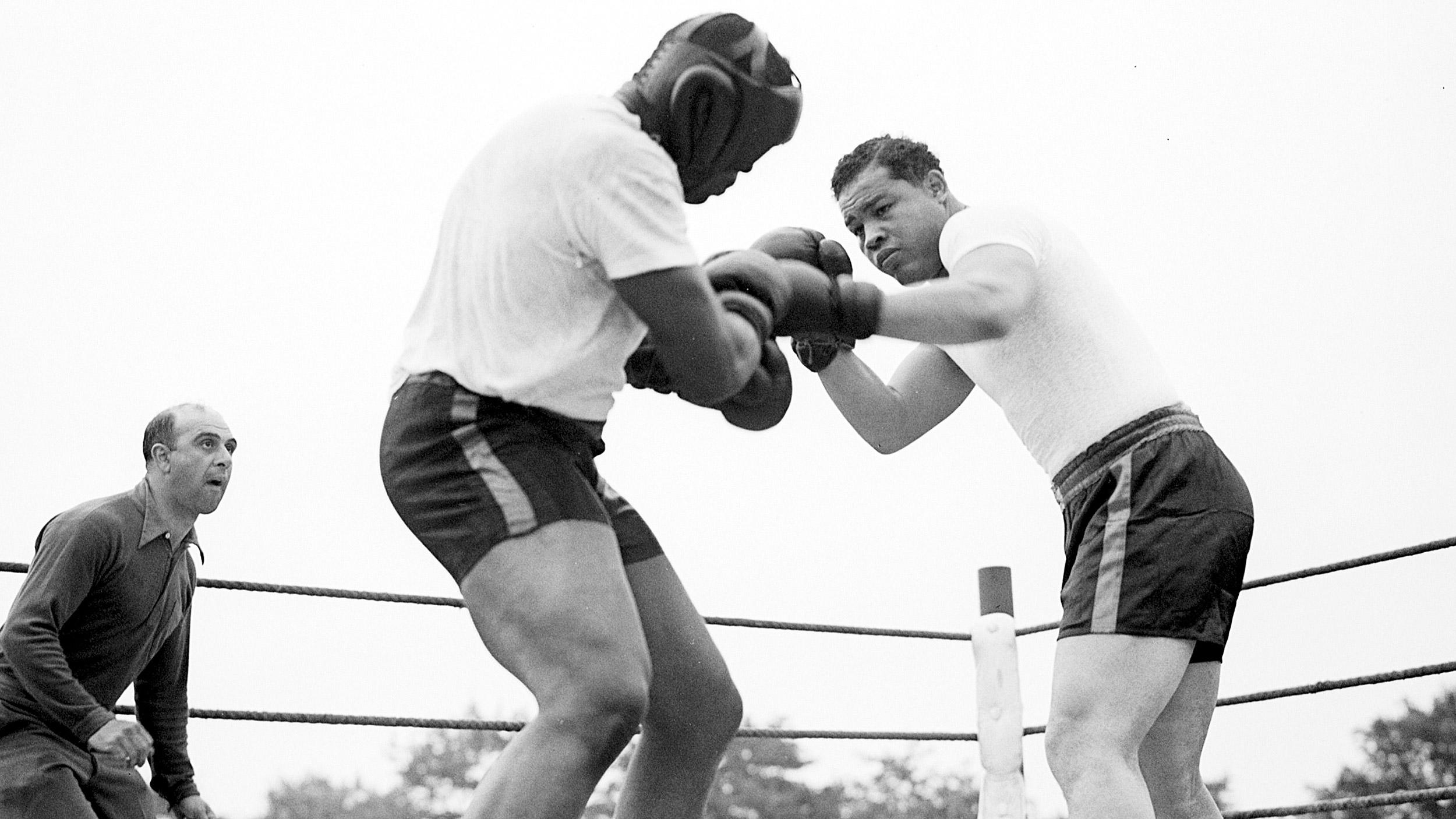 joe louis boxing sparring