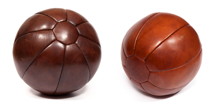 leather medicine balls by john woodbridge makers