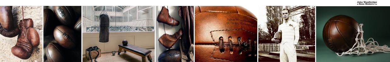 objets de sport en cuir vintage