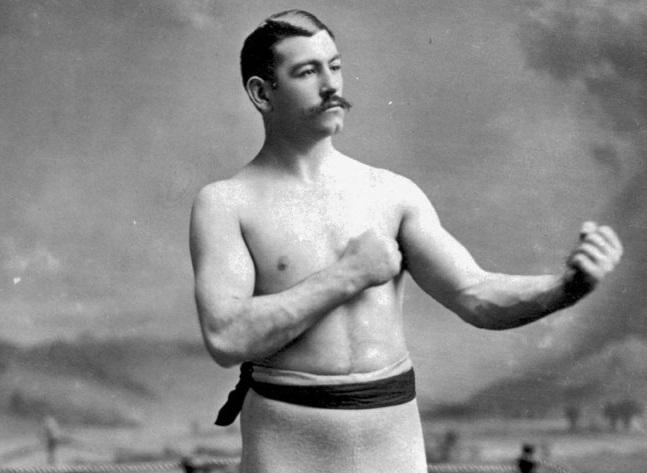 john l. sullivan boxeur à mains nues