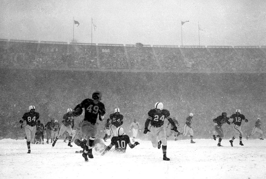 snow bowl 1950 ohio state buckeyes michigan wolverines
