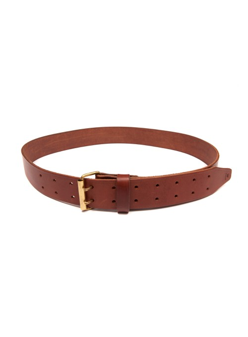 LEATHER BELT WITH DOUBLE BARB