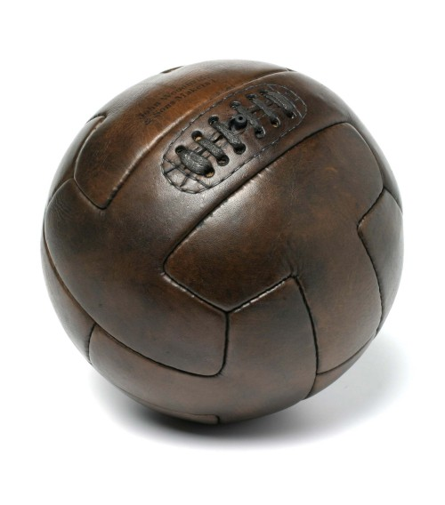 ballon de football vintage en cuir t-shape 1930