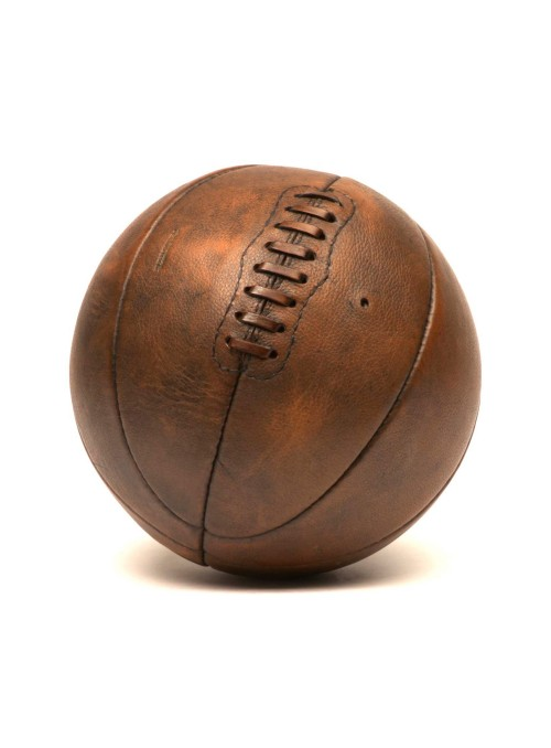 Ballon de basketball en cuir vintage années 1910