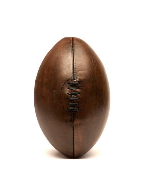 Ballon de rugby en cuir vintage années 1940