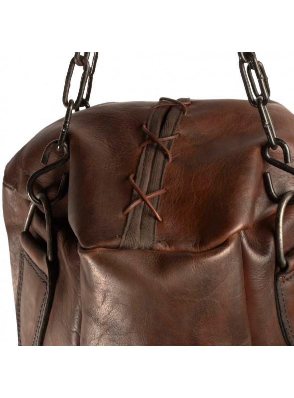 vintage leather boxing punching bag
