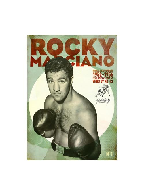Sérigraphie Rocky Marciano 70x50 cm