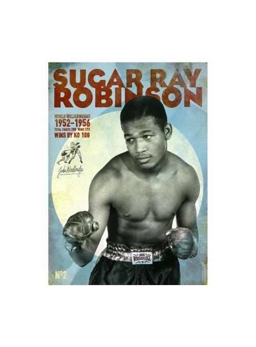 Sérigraphie Sugar Ray Robinson 70x50 cm