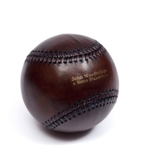 Balle de baseball vintage en cuir