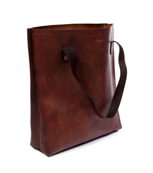 Sac Tote Bag en cuir vintage petit