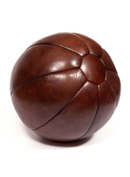 Médecine ball vintage en cuir 5 kg