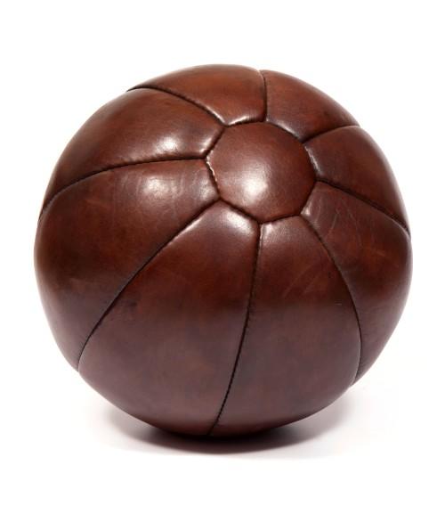 Médecine ball vintage en cuir