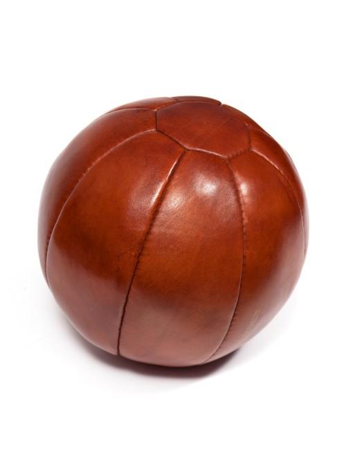 Médecine ball vintage en cuir 2 kg