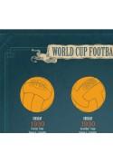 WORLD CUP FOOTBALLS 50x70 CM POSTER