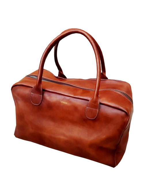 Sac de sport Week-end Bag vintage en cuir