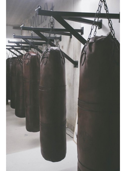 1920s VINTAGE LEATHER 1M50 PUNCHING BAG