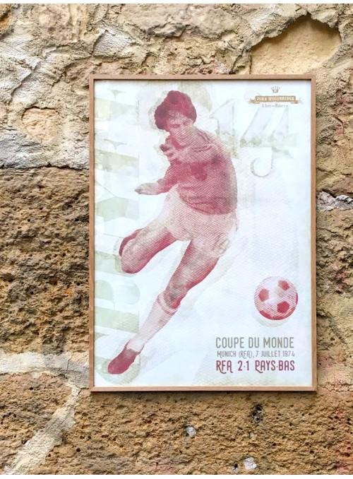 Poster Cruyff 1974 70x50 cm