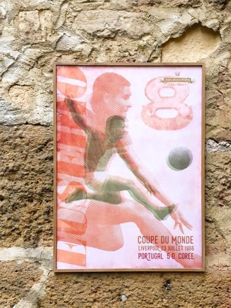 EUSEBIO 1966 70x50 CM POSTER