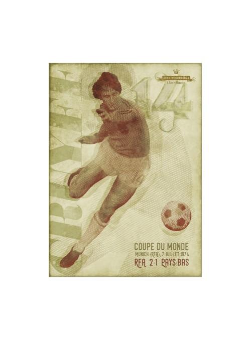 Sérigraphie Cruyff 1974 70x50 cm