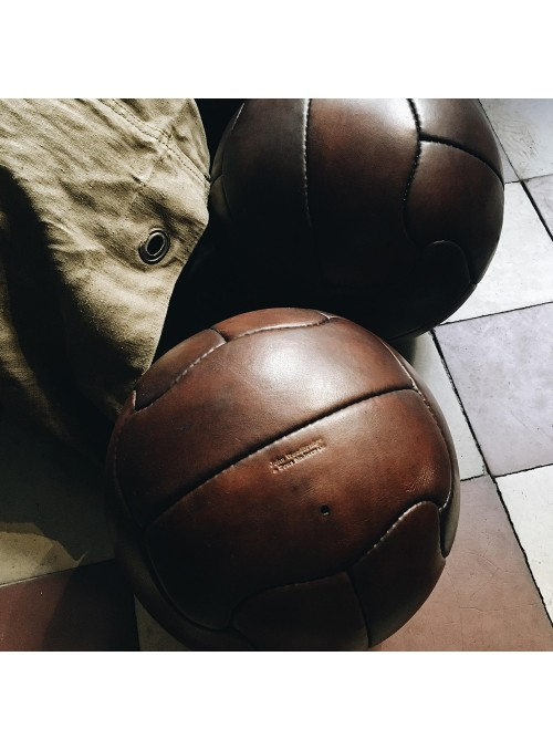Ballon de football en cuir vintage Brésil 1950