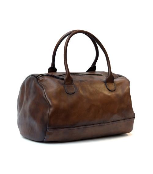 sac de sport rond week-end bag en cuir