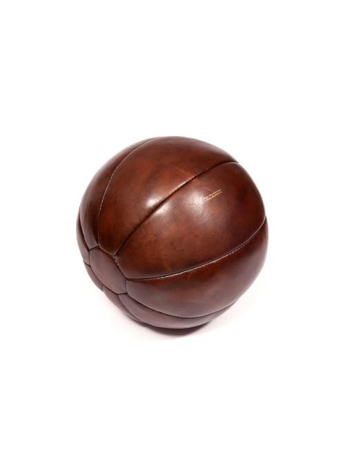 Médecine ball vintage en cuir 1 kg