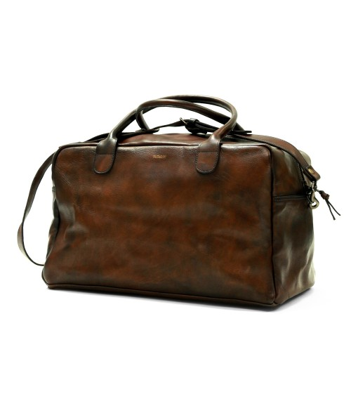 leather sports weekend bag