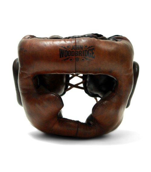 vintage leather boxing helmet