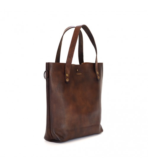leather vintage tote bag brown