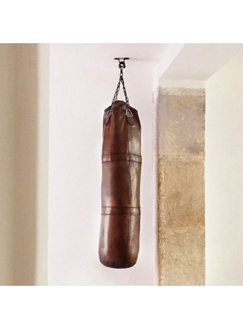 1920s VINTAGE LEATHER KICKBOXING PUNCHING BAG