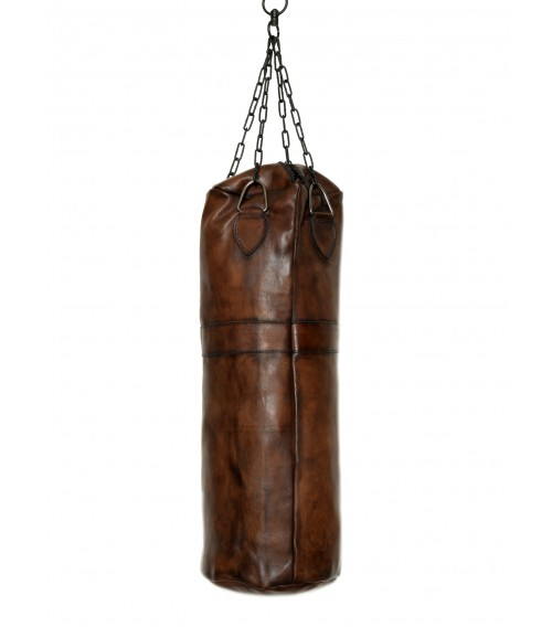 vintage leather boxing punching bag