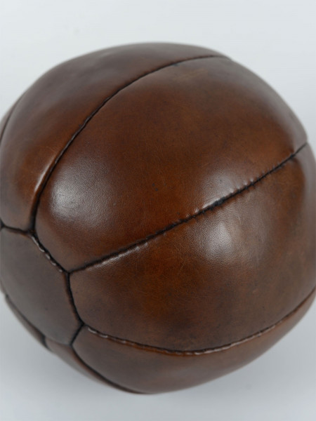 médecine ball 2 kg vintage en cuir