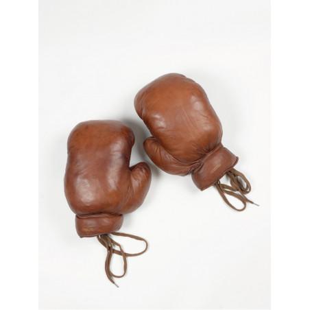 gants de boxe en cuir vintage