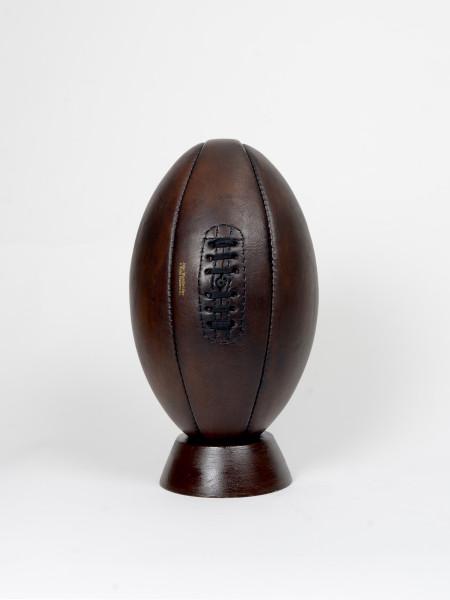 ballon de rugby vintage en cuir années 1920