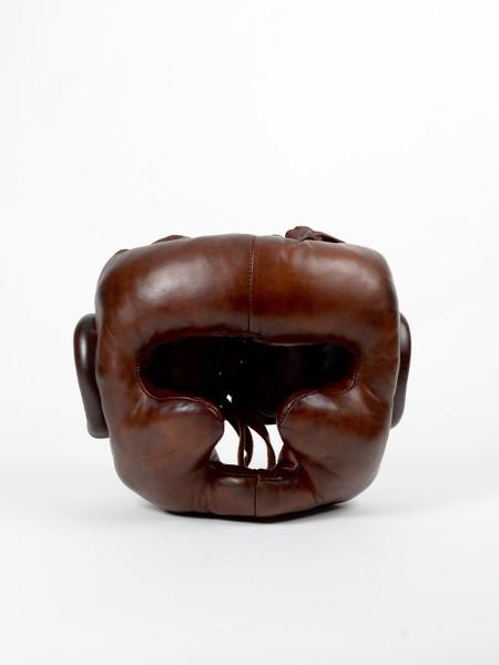 casque de boxe en cuir vintage