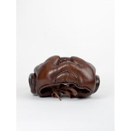 vintage leather boxing helmet