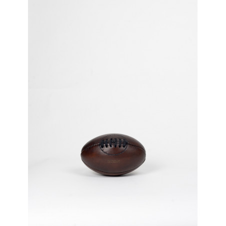vintage leather rugby ball miniature